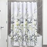 InterDesign 36526 Fabric Shower Curtain Standard, Yellow/Gray, 72 x 72