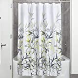 Yellow and Gray Shower Curtain InterDesign Anzu Fabric Shower Curtain for Master, Guest, Kids', College Dorm Bathroom, 72