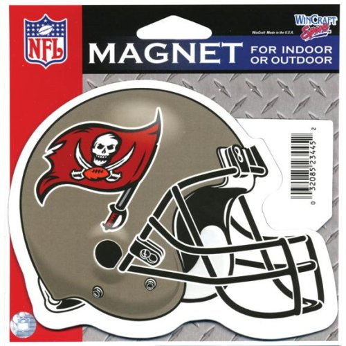 Tampa Bay Buccaneers Official NFL 4.5 inch x 6 inch Car Magnet by Wincraft by WinCraft