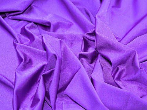 Tela de lycra lisa y elástica de nailon y licra, color morado – 1 ...