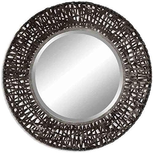 Uttermost Alita Black Woven Metal Mirror