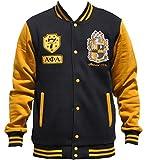 Big Boy Headgear Alpha Phi Alpha Fraternity Men's Fleece Jacket 2XL Black/Gold