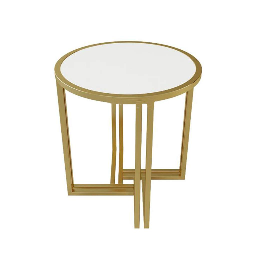 LQQGXLポータブル折りたたみテーブルレジャーテーブル、多機能ゴールデンリビングルームベッドルーム大理石コーヒーテーブル  D B07K31F7SZ
