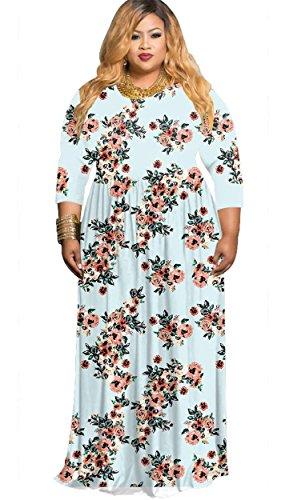 light blue plus size maxi dress - 8