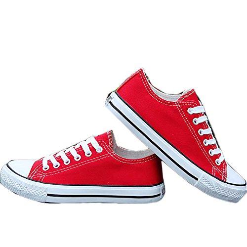 Better Annie Women White Canvas Shoes Flat Ladies Female Girl krasovki Tenis Feminino Casual Basket Femme Footwear Red 5