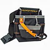 DR. Machinist 8 Pockets Oxford Electrician's Utility Tool Pouch, Tool Bag with Adjustable Waist Belt, Portable Tool Kit- A Good Helper for Organizing Tools