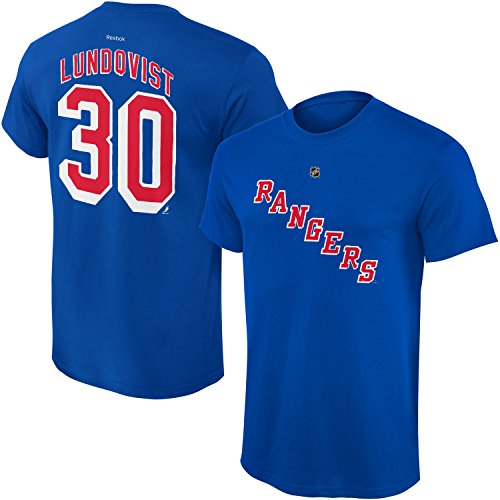 - Outerstuff NHL Youth Team Color Player Name and Number Jersey T-Shirt (Henrik Lundqvist Blue, Small 8)