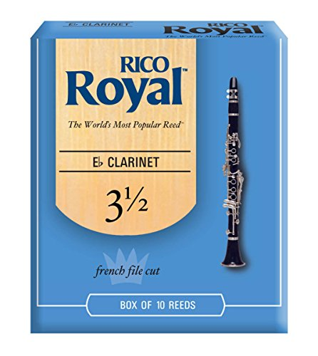 Royal by D'Addario Eb Clarinet Reeds, Strength 3.5, 10-pack