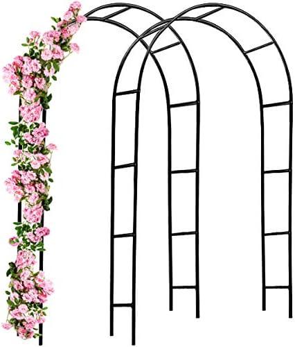 Deuba 2X Arcos Decorativos para Rosales Plantas trepadoras Metal pulverisado 240 x 140 cm para jardín Exterior Eventos: Amazon.es: Jardín