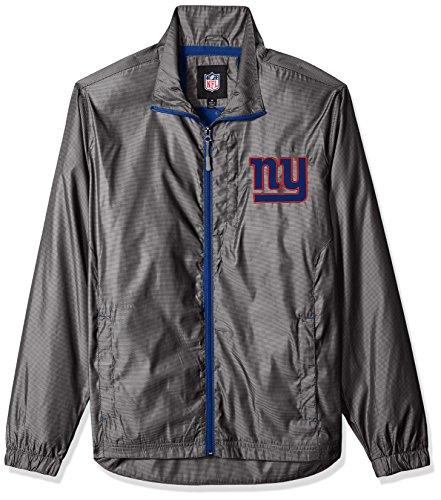 (G-III Sports NFL New York Giants The Executive Full Zip Jacket, XX-Large, Charcoal Gray)