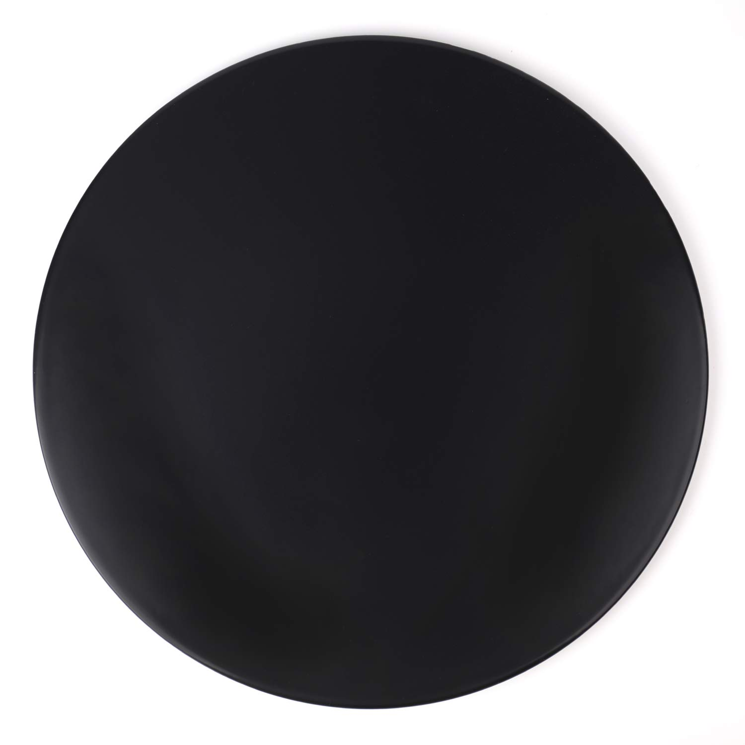 Yesland 13 Inch Ceramic Glazed Cordierite Pizza Stone, Black, for Oven, BBQ, Pies, Pastry Bread, Calzone In kitchen or Outdoor Use