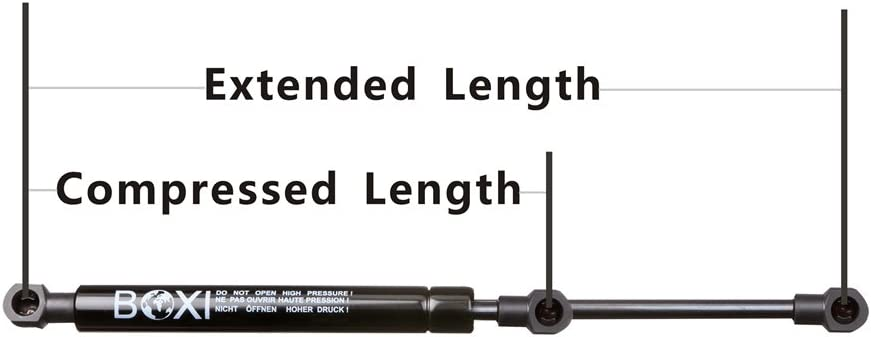 9.40 Inches Force 15.00 Inches Compressed Length 30 Lbs Eyelet End Shocks 6923 BOXI 6923 Universal Lift Supports Shocks Extended Length Qty 2