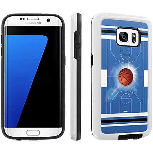 [Galaxy S7] [5.1 Screen] Armor Case [Skinguardz] [White/Black] Shock Absorbent Hybrid - [BasketBall Blue] for Sales