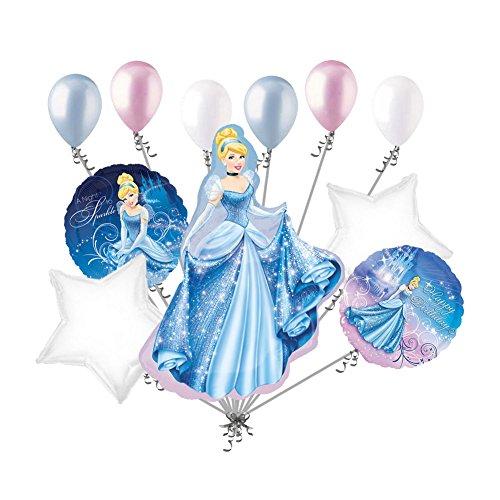 11 pc Cinderella Gown Balloon Bouquet Decoration Disney Princess Birthday