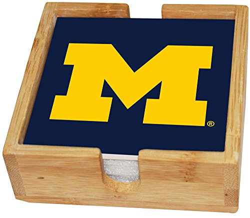 Memory Company NCAA The University of Michigan Col-MH-2403Square Coaster Set, Multi, One Size from Memory Company