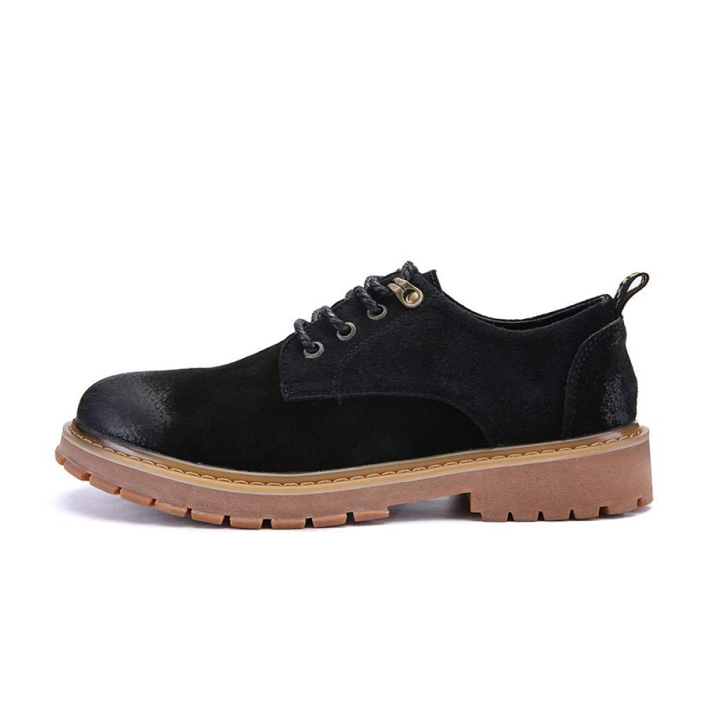 Martin Stiefel Männer Frühling Männer und Herbst Niedrig Um Männer Frühling Retro-Jugend Herrenschuhe Beiläufige Schuhe Werkzeuge Schuhe schwarz 0221ca