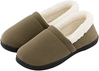 HomeTop Mens Comfy Fuzzy Knit House Shoes Slippers
