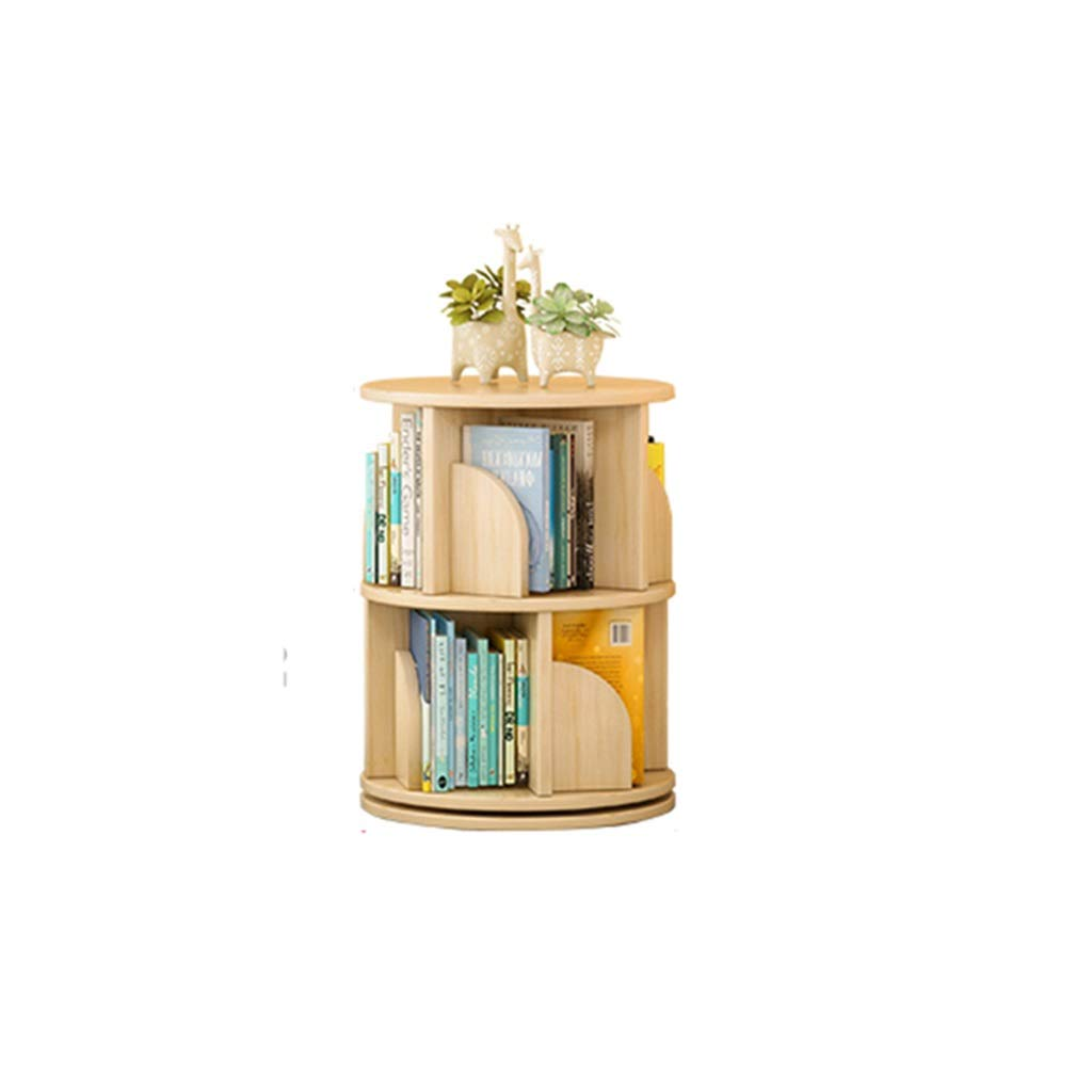SJ-DDUAN Children's Bookshelf, Shelf Simple Solid Wood Home Storage Rack 360 Degree Rotating Bookcase (Size : 6644cm) by SJ-DDUAN