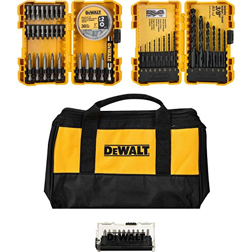 Drive Contractor (Dewalt Drill and Drive Magnetic Bit Gift Set with Contractor Bag (80 Pieces))