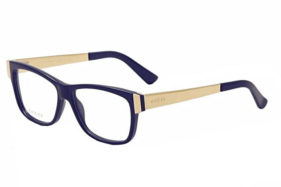 254f4a81c9c Amazon.com  GUCCI Eyeglasses 3719 0Ky2 Blue Gold 53MM  Clothing