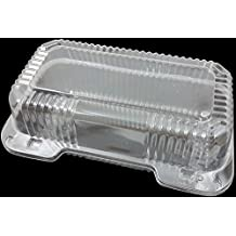 """Dart Clear Hinged Lid Plastic Container 9""""x 5 3/8"""" x 3 1/2"""" (25)"""