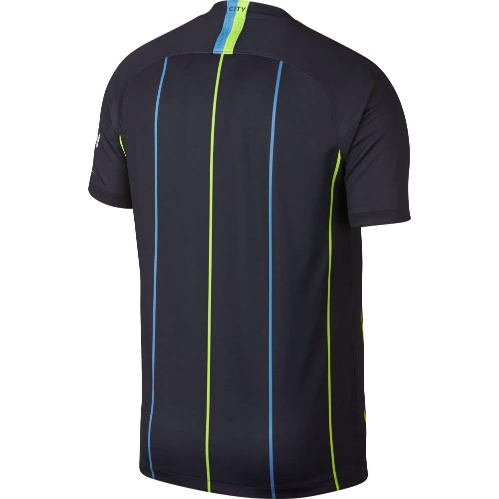 reputable site 37cc1 4b783 Nike 2018-2019 Man City Away Football Soccer T-Shirt Jersey (Kids)