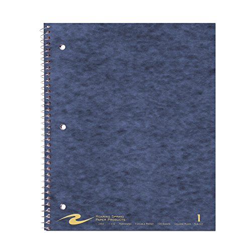 (Roaring Spring Wirebook Notebook, One Subject with 1 Double Pocket, 11