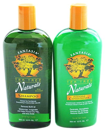 Fantasia Tea Tree (Fantasia IC Tea Tree Naturals Shampoo and Conditioner 12 Ounces Each)