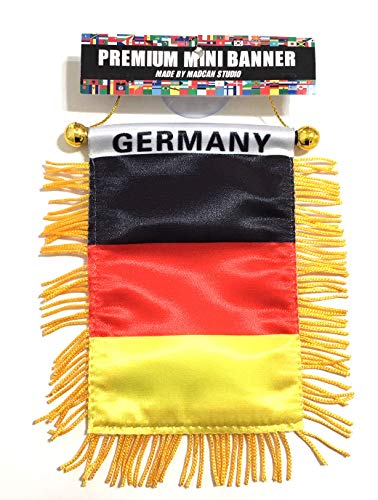 (Deutschland Germany Small German auto Automobile Small Mini Flag Berlin Europe)