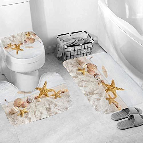 QBQCBB Three-Piece Bathroom ,1x 3pcs Non-Slip Suction Grip Bath Mat Bathroom Kitchen Carpet Doormats Decor
