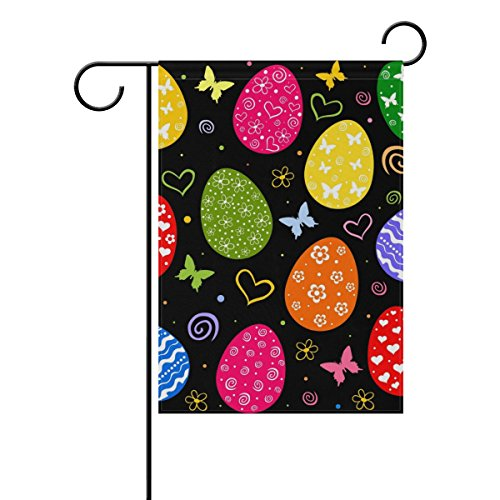Cheap My Little Nest Double Sided Garden Flag Easter Eggs Butterfly Fade Resistant Polyester Holiday Decorative House Flag Banner 28×40″