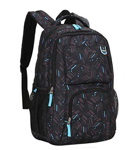 Erwachsene Graffiti-Muster Rucksack 15-16 Laptop Rucksack Wasserdichte Schulranzen Travel Casual Daypacks