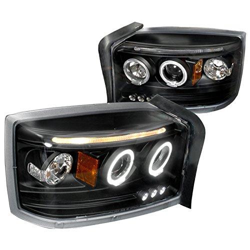 spec-d-tuning-2lhp-dak05jm-tm-dodge-dakota-dual-halo-led-projector-black-head-lights-pair