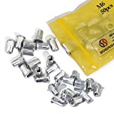 Boeray 50pcs M6 Aluminum Alloy Rivnut,Flat Head Threaded Rivet Insert Nut, Cap Rivet Nut
