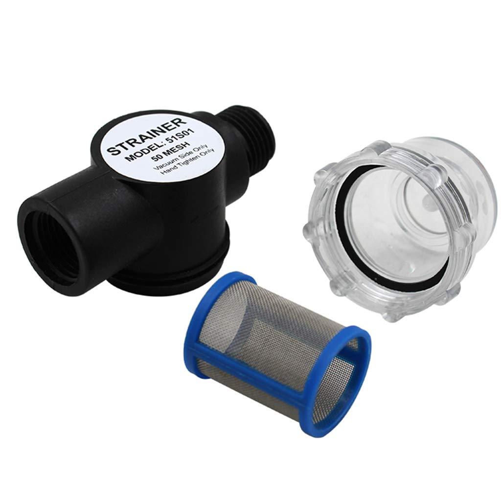 1/2 Pollici-14 FNPT B Baosity Filtro Pompa per Rimorchio RV Filtro per Pompe Acqua Dolce Attrezzatura