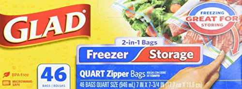 Glad Storage Zipper Quart Count product image