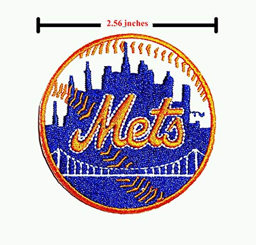 New York Mets Baseball MLB Sport Logo Embroidery Iron-Sewing- Patch on - Fabric Mets York New