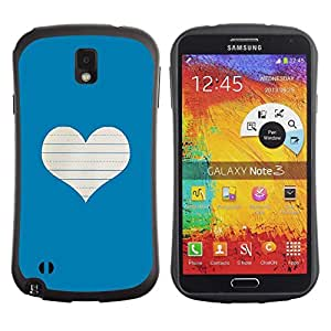 "Pulsar iFace Series Tpu silicona Carcasa Funda Case para Samsung Note 3 , Corazón del amor Notebook Blanca"""