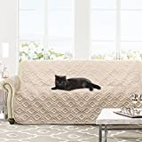 DriftAway Marley 100% Waterproof Quilted Furniture Protector Sofa Cover Slipcover for Dogs, Kids, Pets - Beige (Sofa)