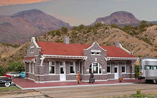 Walthers Cornerstone Brick Mission Style Depot Train