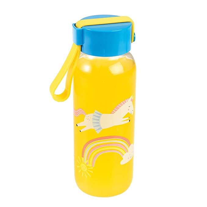 Sass and Belle Rainbow Unicorn mini milk bottle with Straw x 2