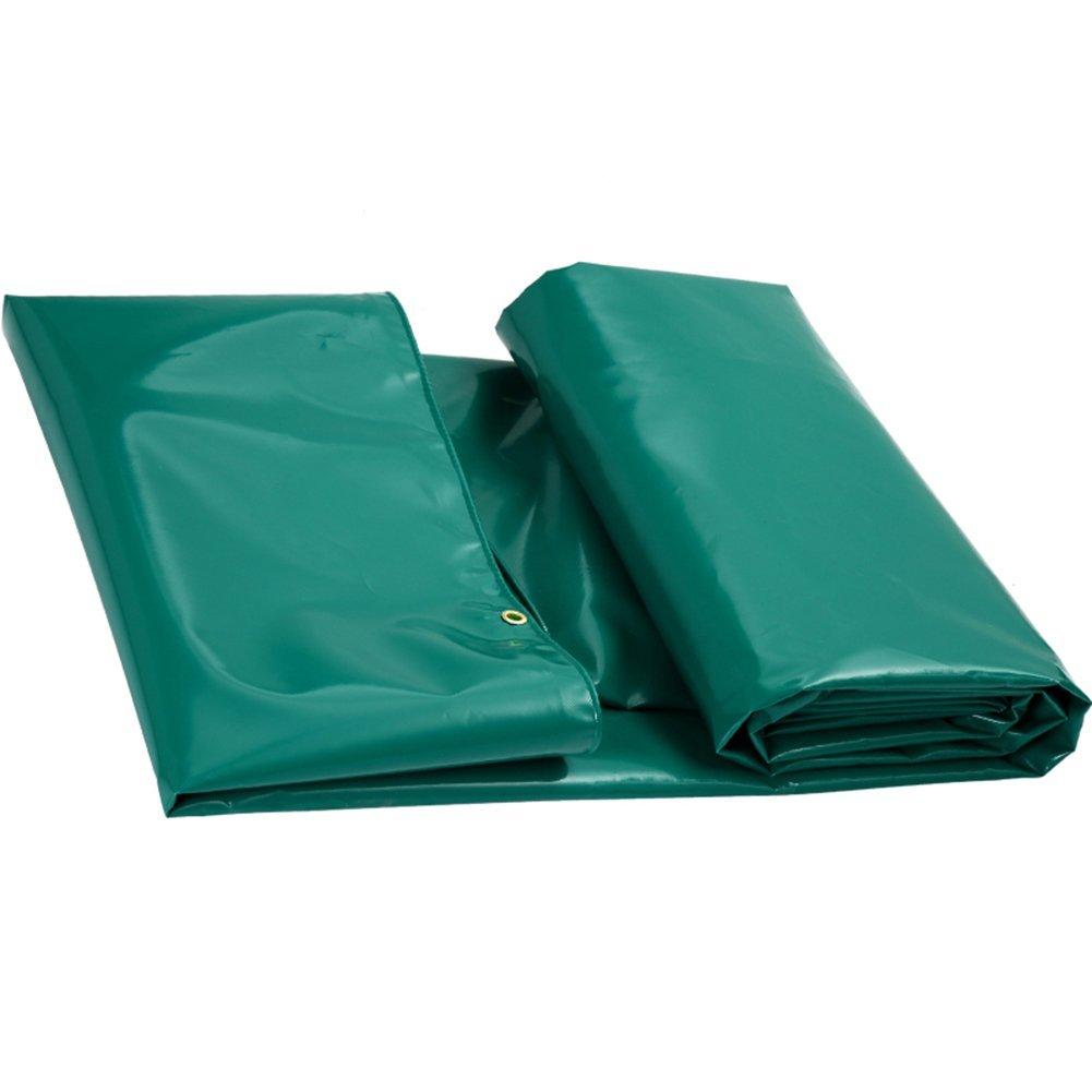 QINCH Regenfestes Tuch wasserdicht Starke Plane, Wasserdichte Plane aus wasserdichtem Frachtstaubtuch, Hochtemperatur-Anti-Aging, grau (Farbe   Grün, Größe   4x4M)