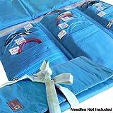 della Q Tri-Fold Knitting Case for Circular Knitting Needles; 023 Ocean Stripes 1145-1-023