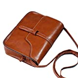 Hot sale!Todaies Vintage Purse Bag Leather Cross Body Shoulder Messenger Bag 9 Colors (18.5cm(L)13.5(H)4cm(W), Brown)