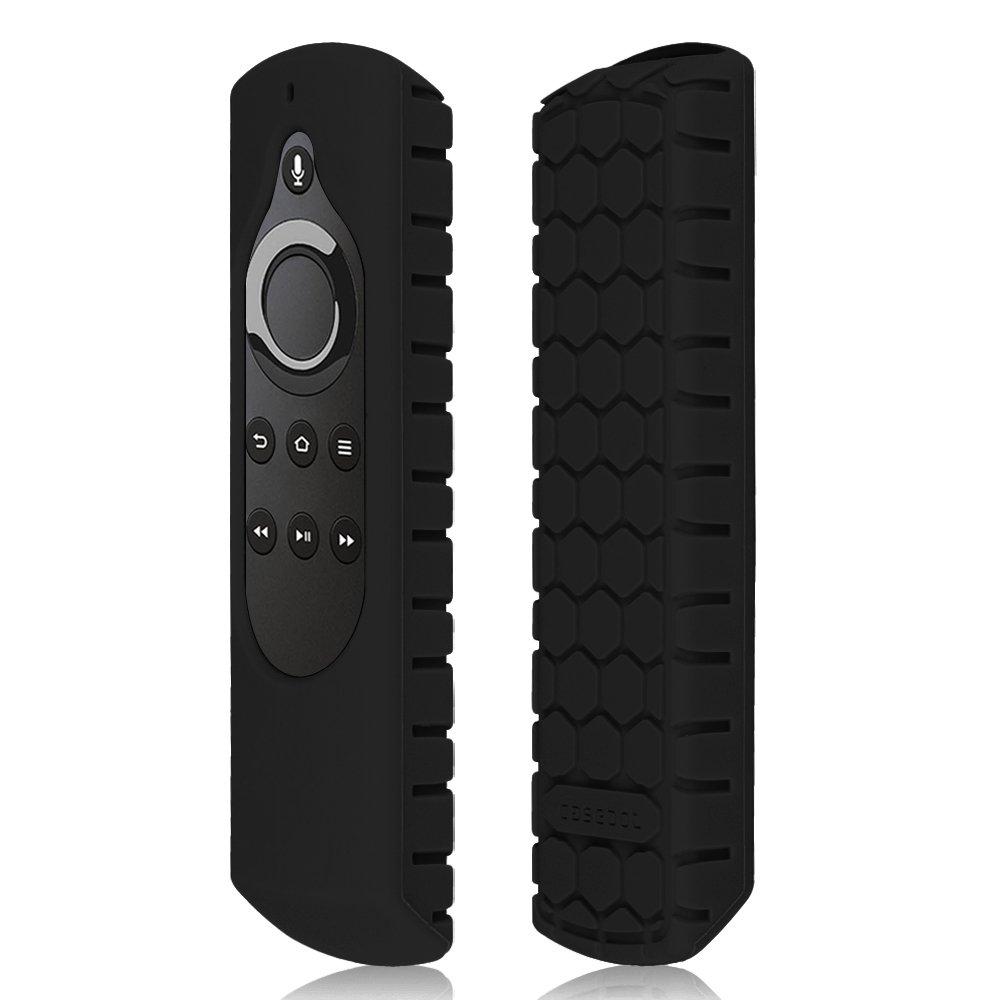 YRD TECH for  Fire TV Voice Remote 5.9Inch for  Fire TV Stick Remote Anti Slip Silicone Protective Case Cover Black