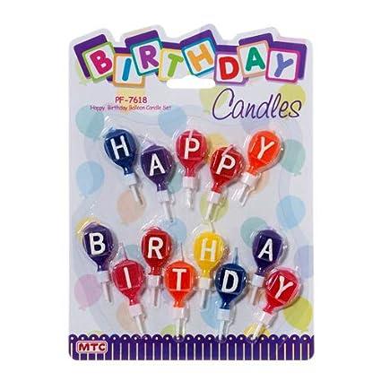 Amazon MTC New 308747 Pf 7618 B Day Balloon Candle Set 24 Pack