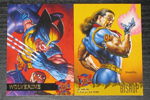 (1995 Fleer Ultra X-Men 2-Card PROMO Panel - Wovlerine, Bishop NM/M Marvel)
