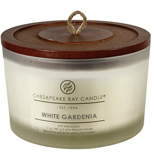Chesapeake Bay Candle Heritage Collection Coffee Table Jar Candle, White Gardenia by Chesapeake Bay Candle - Heritage White Coffee