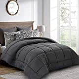 Balichun King Comforter (90 by 102 inches) - White Down Alternative Comforters Soft Quilted Duvet Insert with Corner Tabs Luxury Hotel Collection 1800 Series - All Season