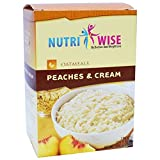 NutriWise - Peaches & Cream Protein Diet Oatmeal (7/Box) | Sugar Free, Low Carb, Low Calorie